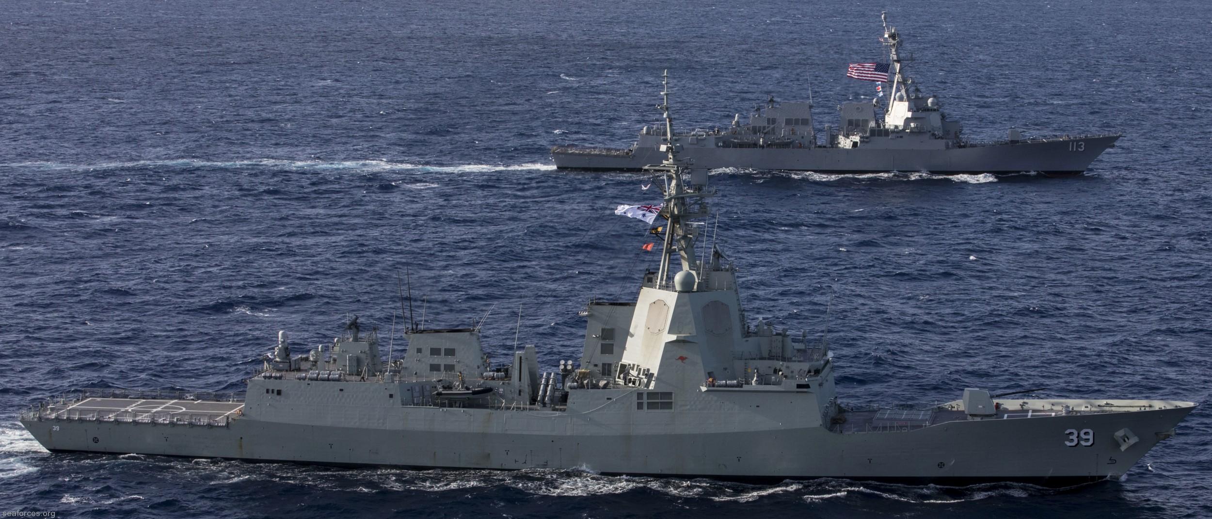 hobart class guided missile destroyer royal australian navy ddgh hmas brisbane sydney