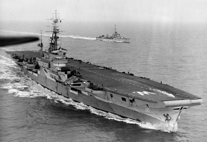 HMCS Warrior CVL-31 Colossus class aircraft carrier Royal Canadian ...