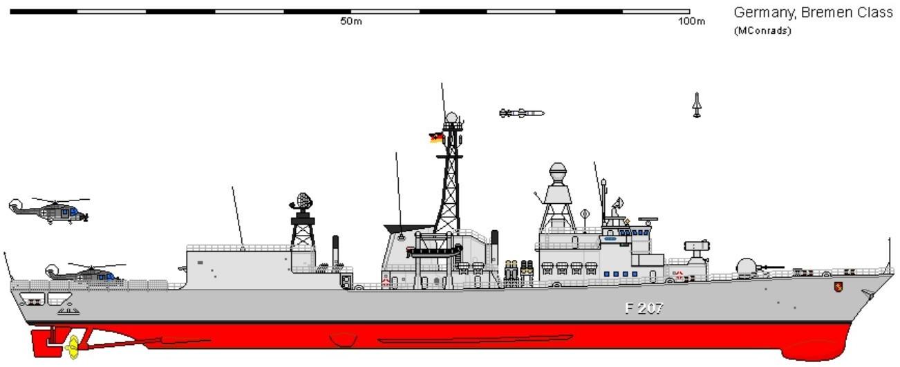 Type 122 Bremen class Frigate German Navy