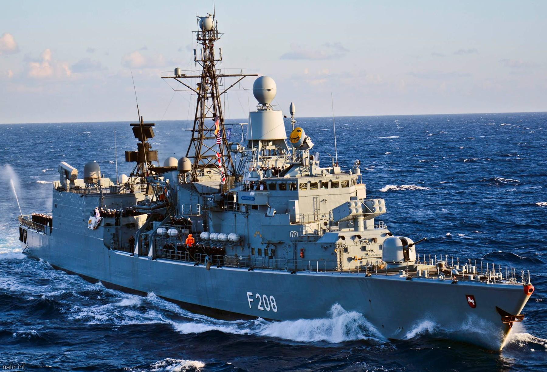 fgs niedersachsen f 208 type 122 class frigate german navy. Black Bedroom Furniture Sets. Home Design Ideas