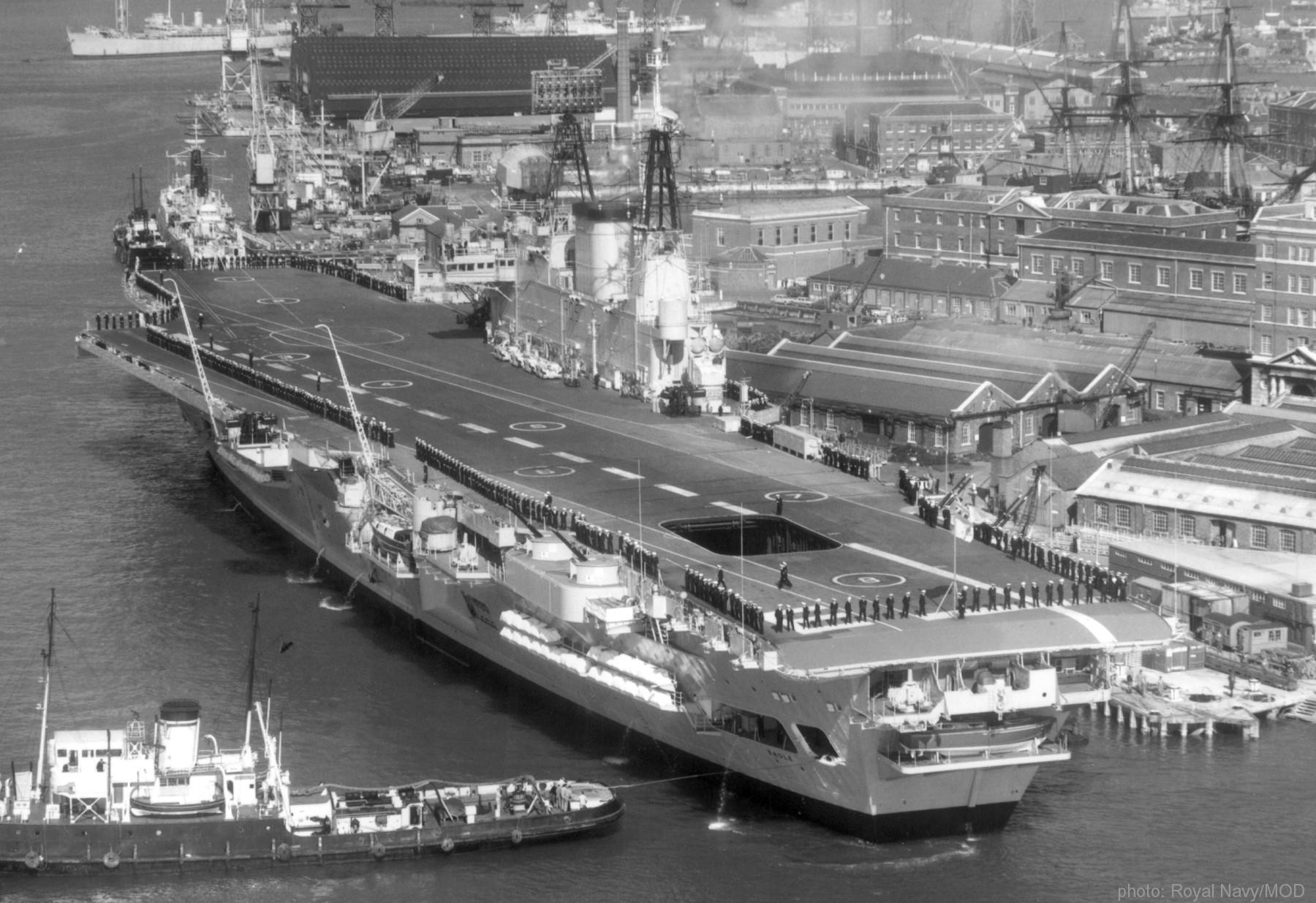 HMS Eagle R 05 Audacious class aircraft carrier Royal Navy
