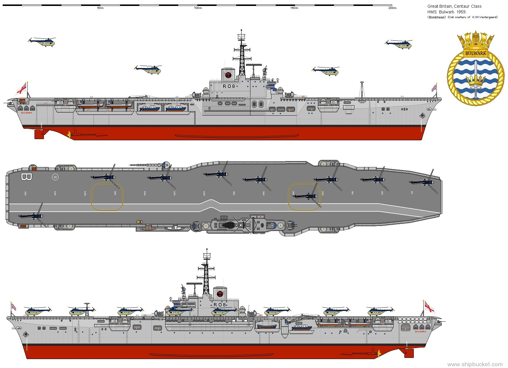 Air Craft Carrier Drawing