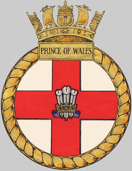 Hms Prince Of Wales R 09 Aircraft Carrier Royal Navy