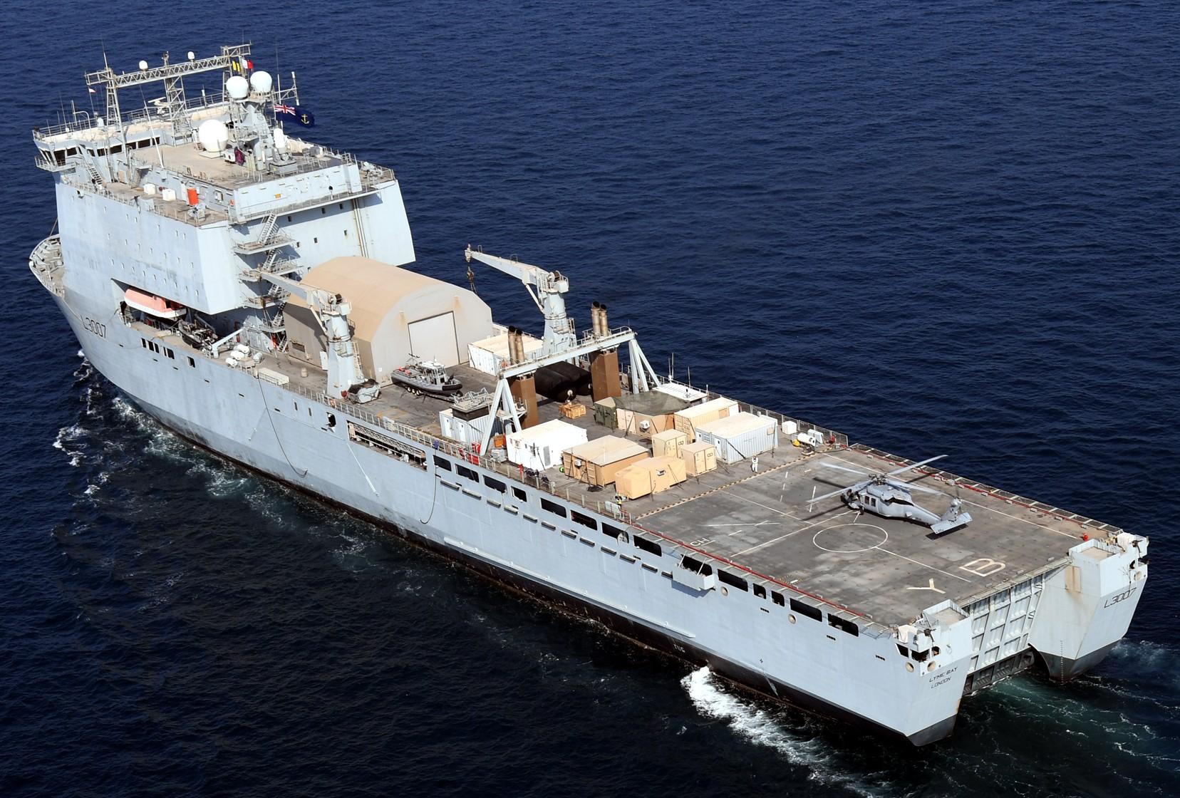 Rfa Lyme Bay Dock Landing Ship Lsd Amphibious Royal