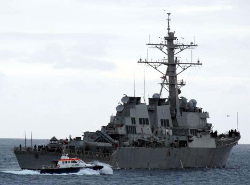 USS Carney Departs Algiers, Algeria