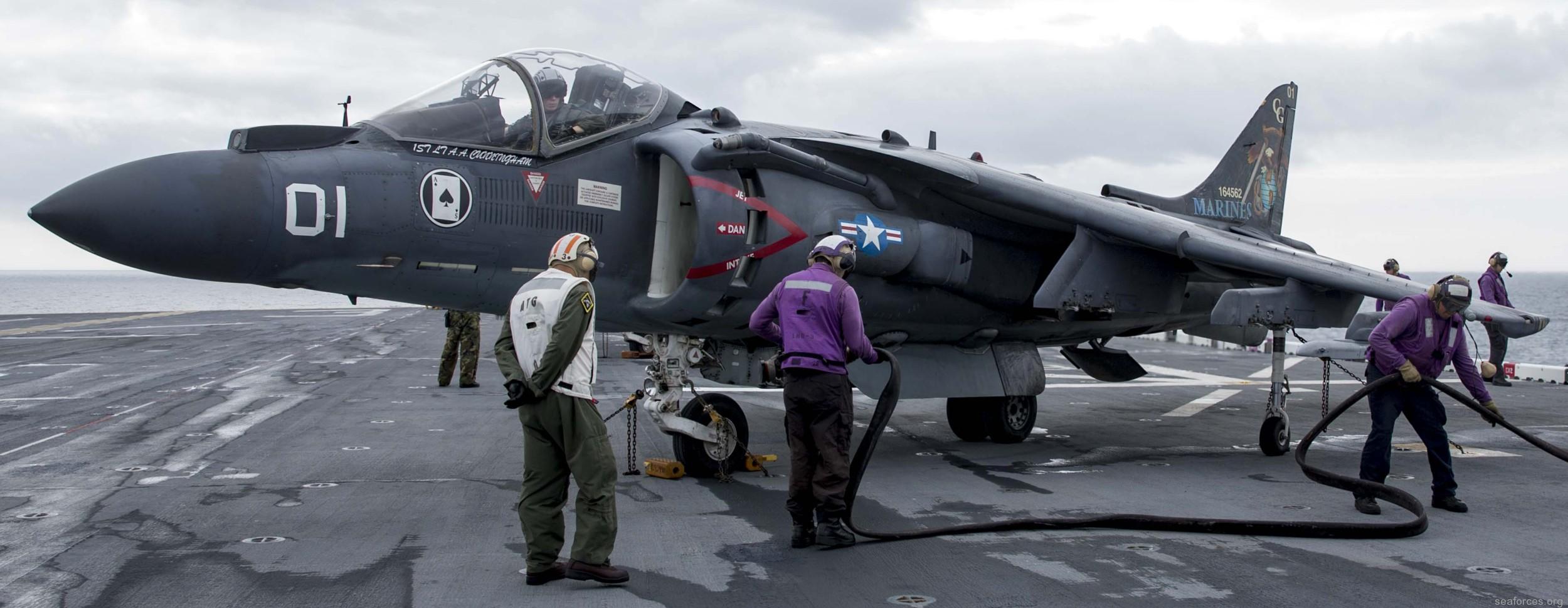 vma-231 ace of spades av-8b harrier marine attack squadron usmc 123 uss