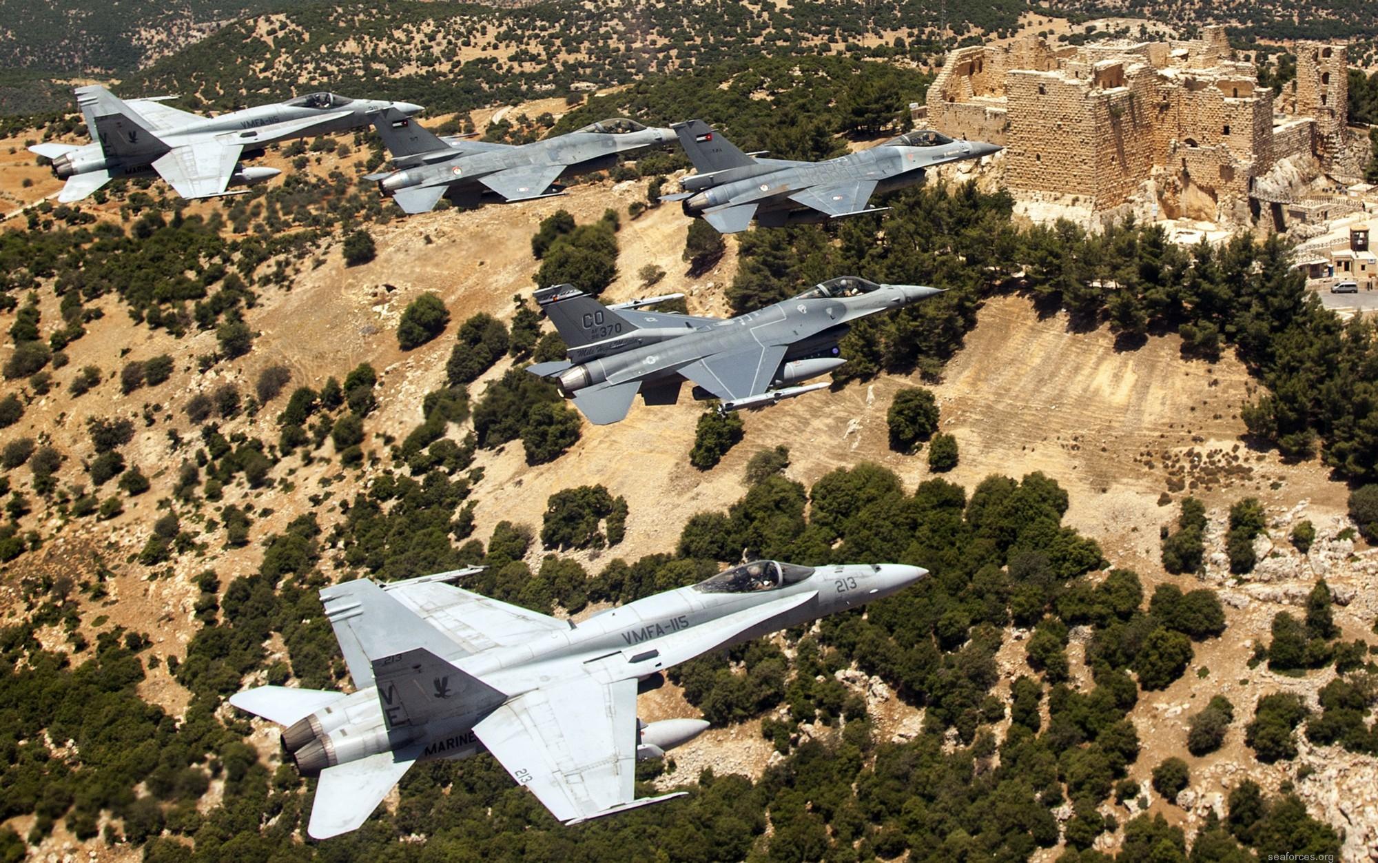 VMFA-115 Silver Eagles Marine Fighter Attack Squadron F/A-18 Hornet