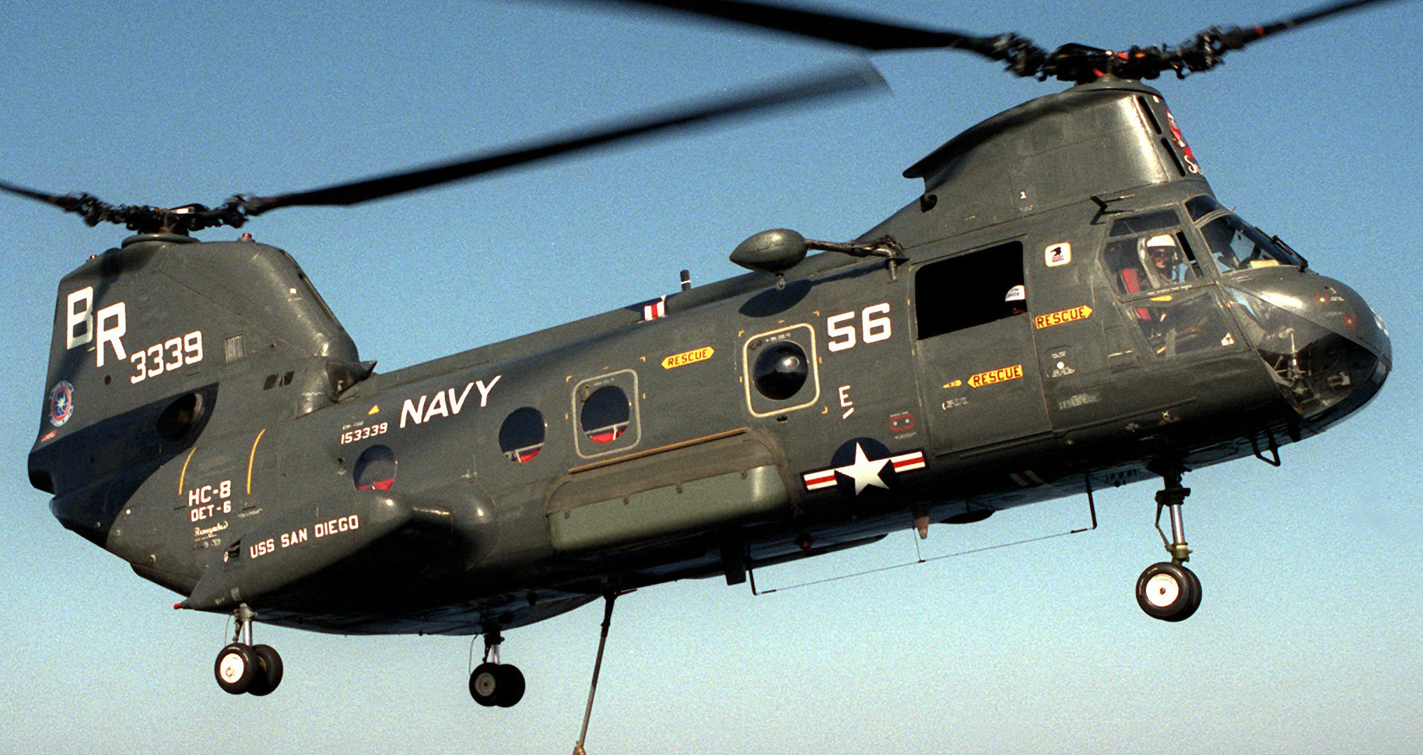 Hc 8 Dragon Whales Helicopter Combat Support Squadron Navy Ch 46 Sea Knight 43x
