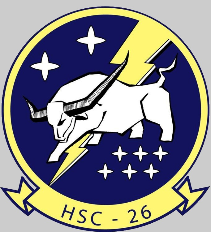 Hsc 26 Chargers Helicopter Sea Combat Squadron Us Navy