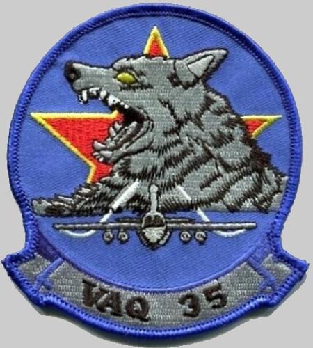 VAQ-35 GREYWOLVES Grumman  EA-6B PROWLER US Navy Aggressor Squadron Patch