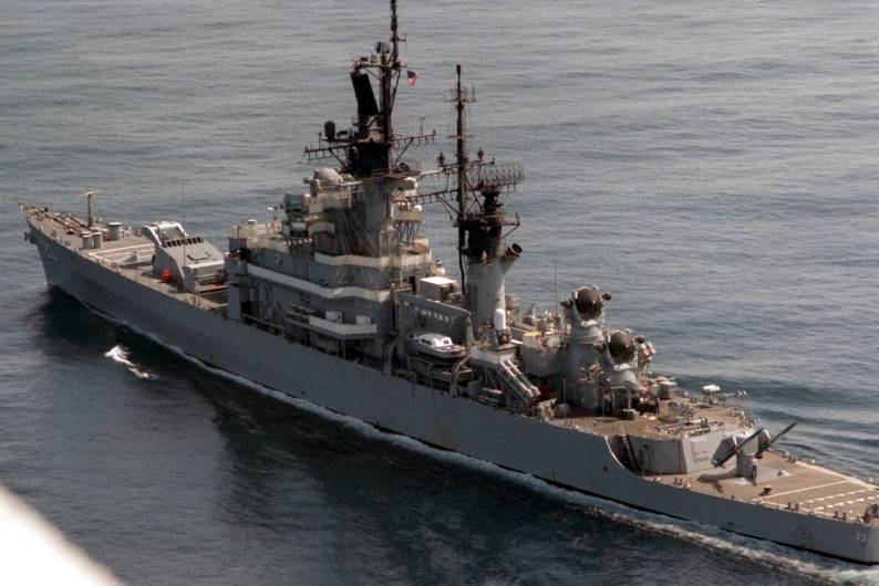 USS Halsey DLG CG 23 Leahy class guided missile cruiser US ...