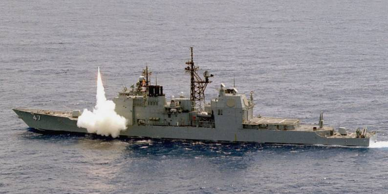 uss ticonderoga cg 47 class guided missile cruiser fort