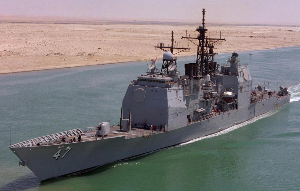 USS Ticonderoga CG 47 class guided missile cruiser US Navy