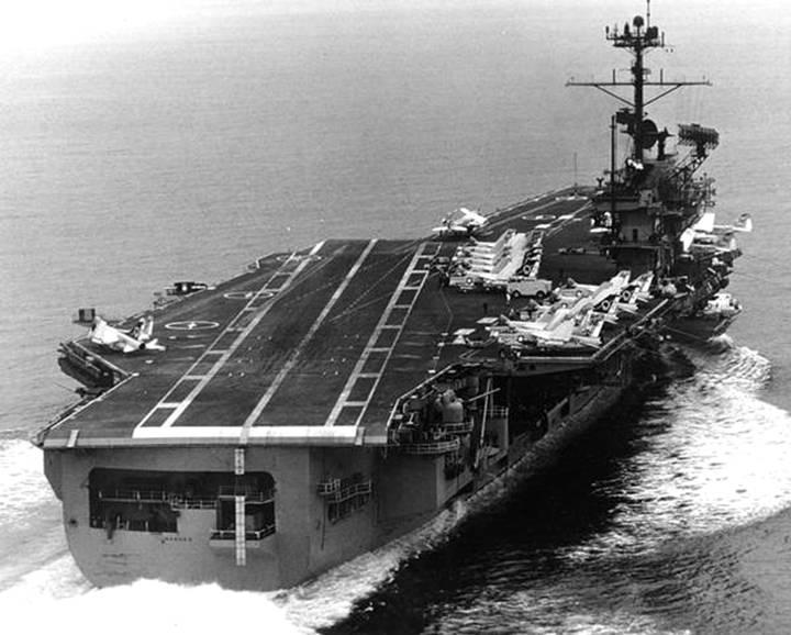 USS Ranger CVA CV 61 - Aircraft Carrier - US Navy