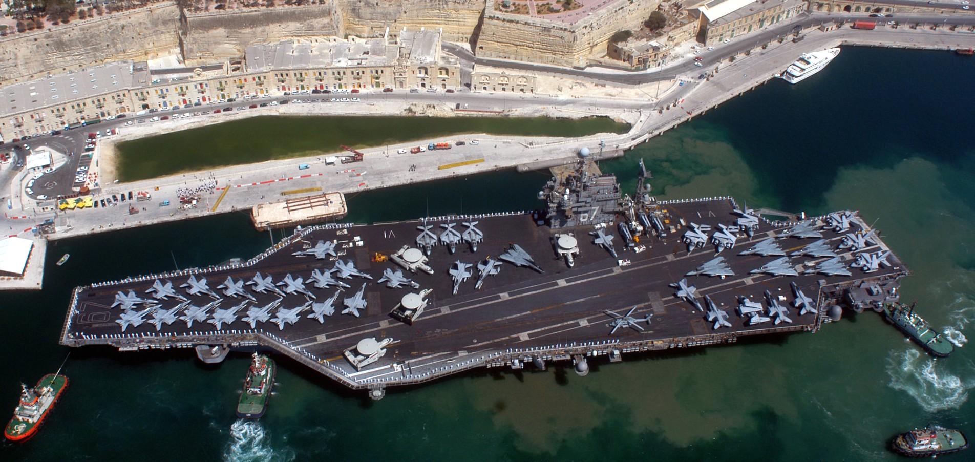 cv 67 uss john f kennedy full history 1968 2007 us navy