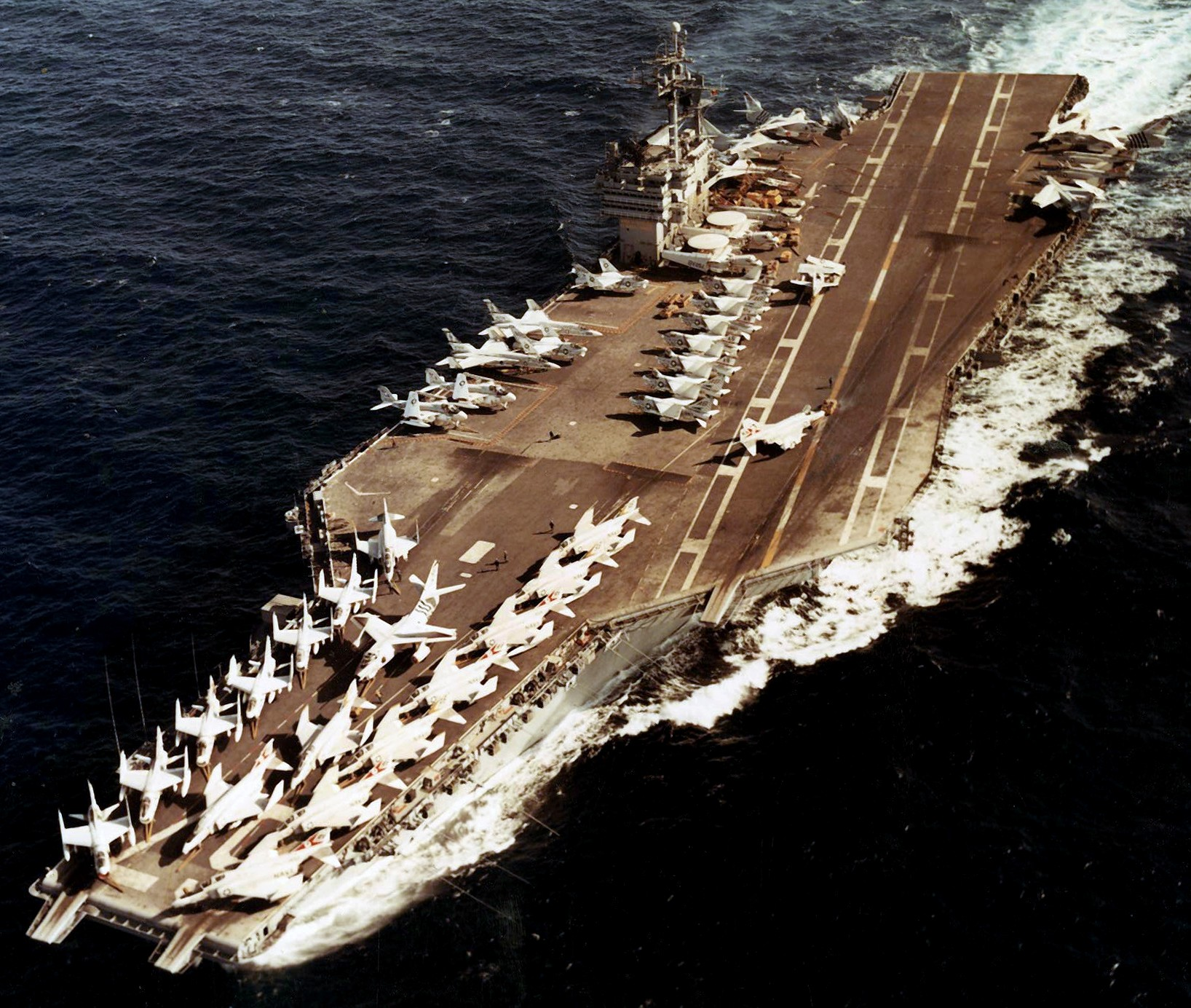 CV-67 USS John F  Kennedy full history 1968-2007 US Navy