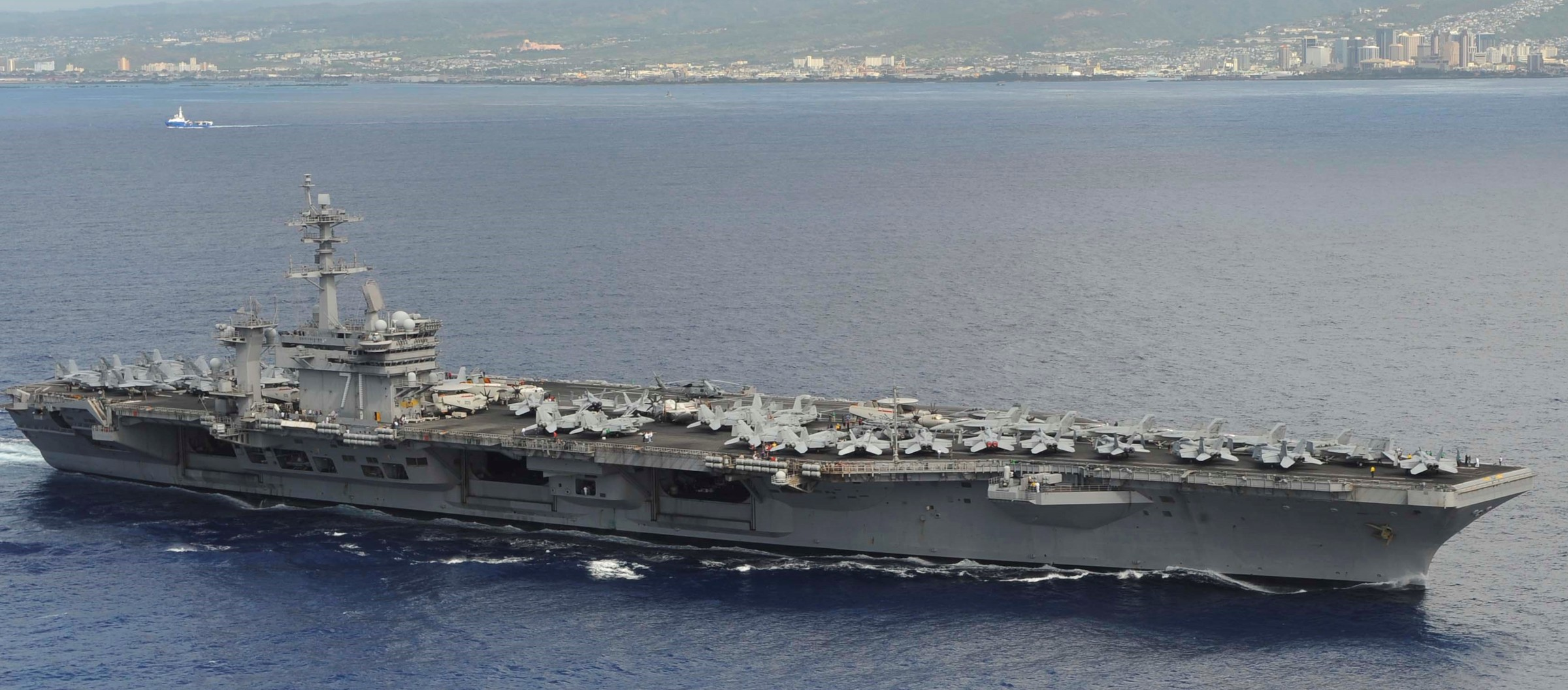 US Navy Aircraft Carrier – USS Theodore Roosevelt CVN 71 – Small Boat Operations