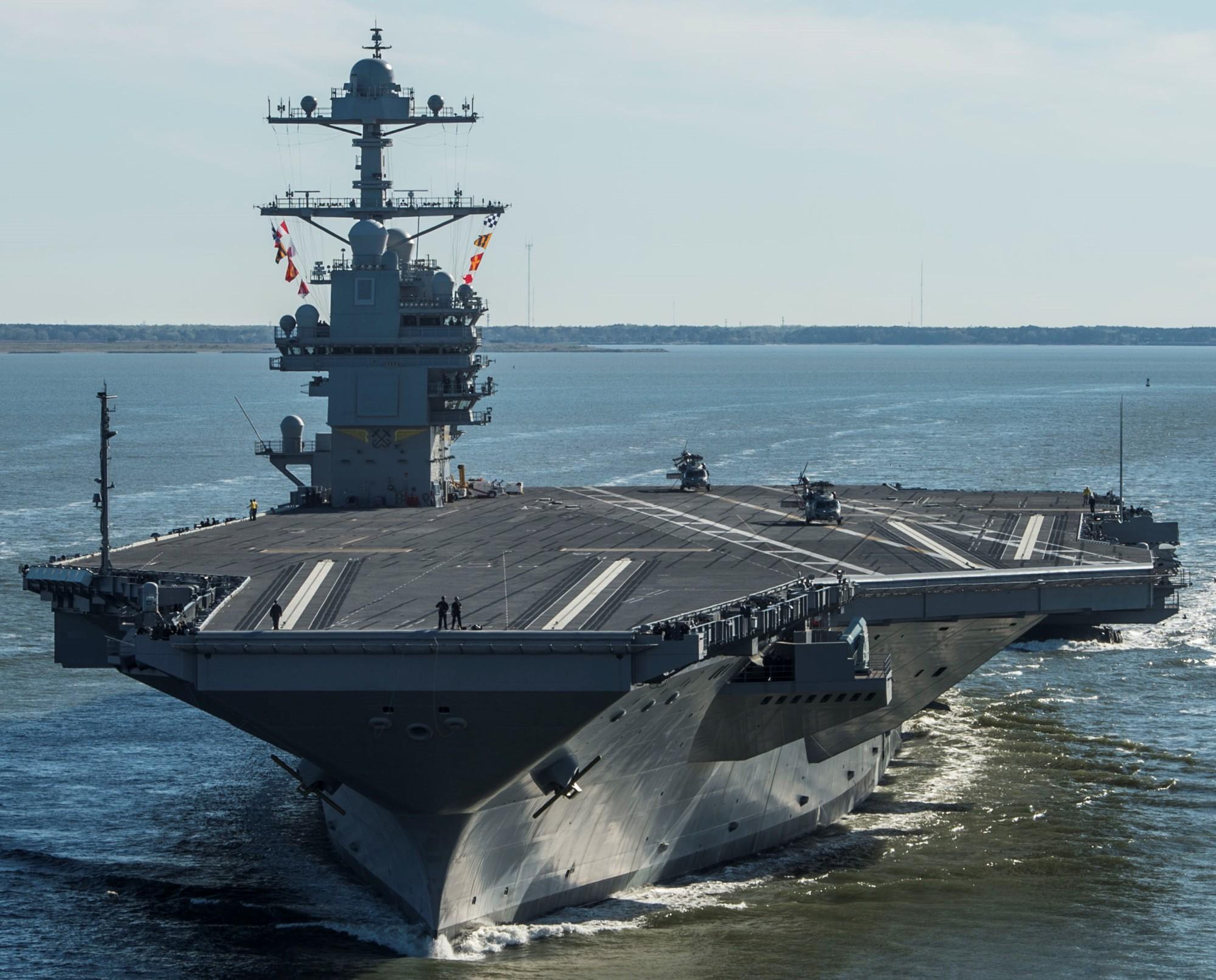 USS Gerald R. Ford CVN-78 Aircraft Carrier US Navy