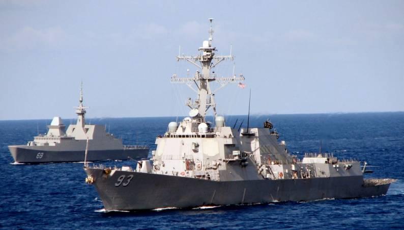 Sticker Military USN U S Navy USS CHUNG-HOON DDG 93 Oval Decal