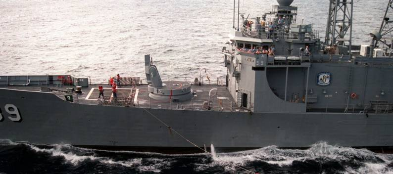 USS Doyle FFG 39 Guided Missile Frigate Vice Admiral James