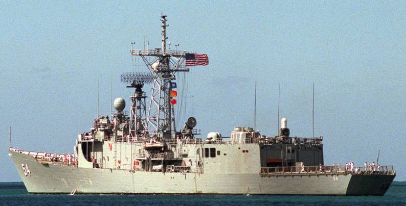 Uss Ford Ffg 54 Guided Missile Frigate Gunners Mate Patrick Osborne Ford
