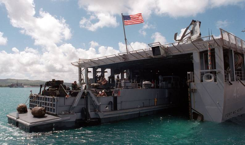 Whidbey Island class dock landing ship LSD US Navy
